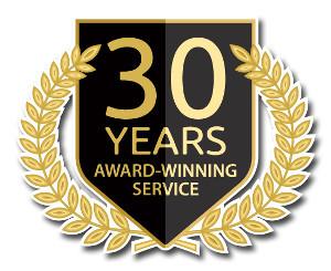 30 Year Award Winning Service